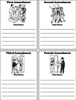 American Government Unit: Constitution - The Bill of Rights Activity