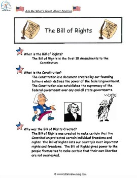 The Bill of Rights Activities and Posters