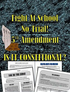 Bill of Rights 5th Amendment:  Student Suspended Without a