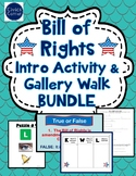 Bill of Rights Activities- Gallery Walk, Intro Activity and Writing Prompt