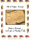 """Bill of Rights Activity: """"Get em up and Movin!"""""""