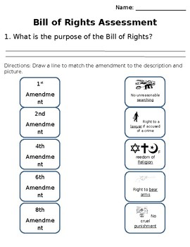 Bill of Rights Adapted Assessment