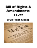 Amendments: Bill of Rights & Amendments 11-27 (Full-Text Cloze)