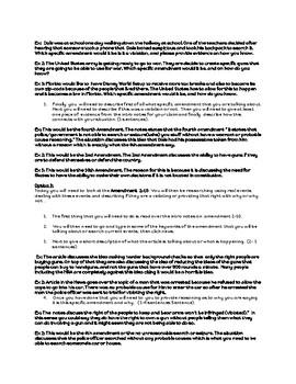 Bill of Rights Amendments Choice Board