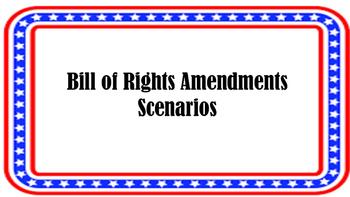 Bill of Rights Amendments Scenarios