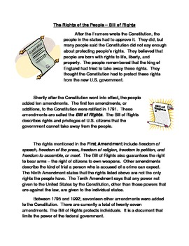 Bill of Rights Anticipation Guide
