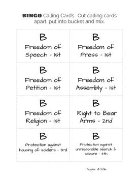 Bill of Rights BINGO!!!