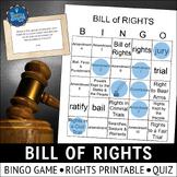 Bill of Rights Bingo