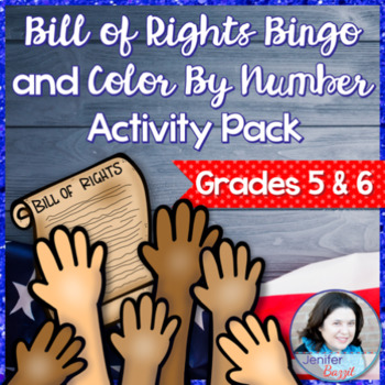 Bill of Rights Bingo and Color By Number Activity Pack