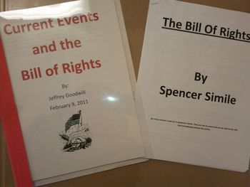 Bill of Rights:  CREATING the first 10 amendments!