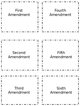 Bill of Rights Cards
