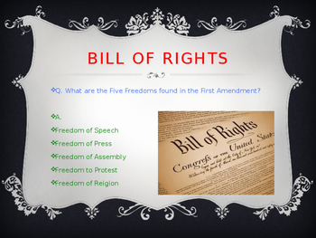 Bill of Rights, Civil War, and Reconstruction Comprehensive Review
