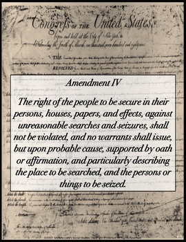 Bill of Rights Classroom Posters Bulletin Board Wall Decor Set