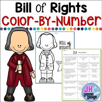 Bill of Rights Color-By-Number