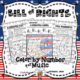 Bill of Rights Color By Symbol (Music)