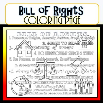Bill Of Rights Coloring Page By Civics Studies Tpt
