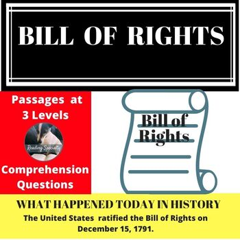 Bill of Rights Differentiated Reading Passage December 15