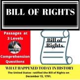 Bill of Rights Differentiated Reading Comprehension Passage December 15