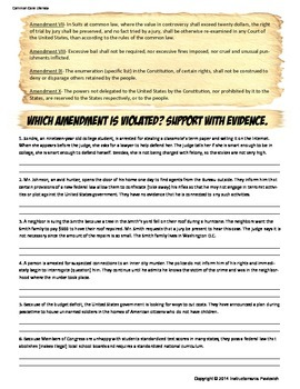 Bill of Rights Do You Have the Right? Analysis Activity