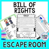 Bill of Rights ESCAPE ROOM - Amendments to the U.S. Constitution: Civics