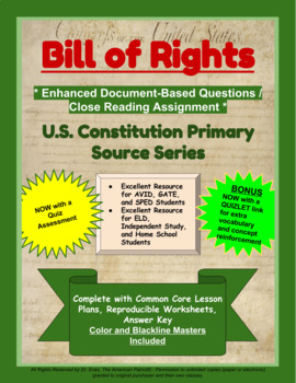 Bill of Rights - Enhanced DBQ - Close Read Unit (PDF for Handouts)