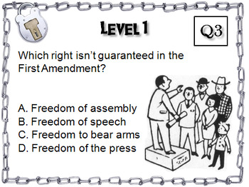 Bill of Rights: Escape Room - Social Studies (US Constitution Activity)