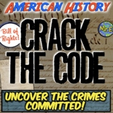 Bill of Rights Escape Room: Uncover Crimes Committed for FBI Job Interview! Fun!