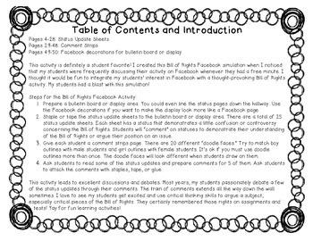 Bill of Rights: Facebook Simulation