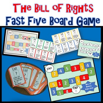 Bill of Rights Fast Five Board Game