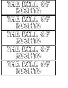 Bill of Rights Flip Book