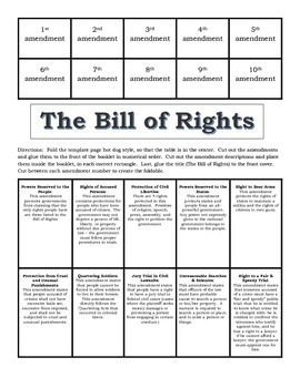 bill of rights foldable by jennifer roques teachers pay teachers. Black Bedroom Furniture Sets. Home Design Ideas