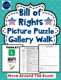 Bill of Rights Gallery Walk Activity with Picture Puzzles - Amendments