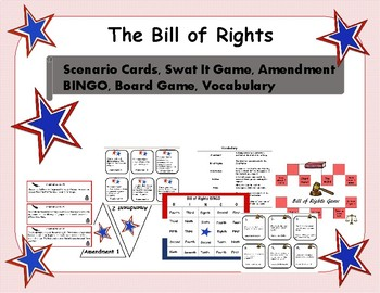 Bill Of Right Scenario Cards Teaching Resources Teachers Pay Teachers