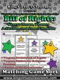 Bill of Rights: George Mason, Thomas Jefferson, James Madison Matching Game Sort