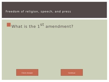 Bill of Rights, Government, and Citizenship Review Jeopardy