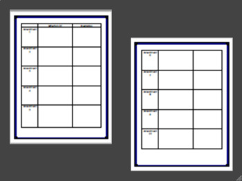 Bill of Rights Graphic Organizer for Middle and High School History