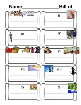 Bill of Rights Graphic Organizer Worksheet