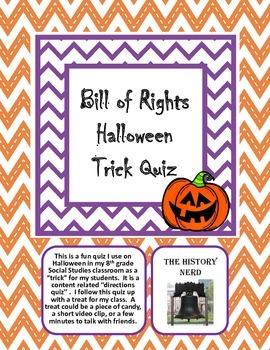 Bill of Rights Halloween Quiz
