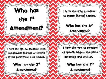 Bill of Rights - I Have...Who Has? UPDATED
