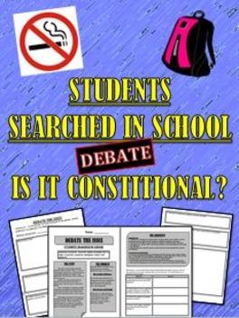 Bill of Rights Illegal Search in School Debate