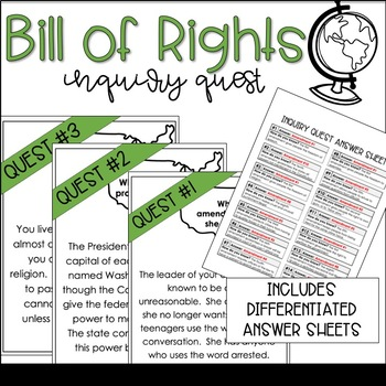 Bill of Rights Social Studies Activity