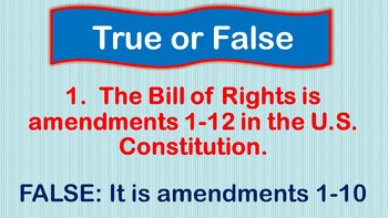 Bill of Rights Introduction Activity - Interactive -Amendments to Constitution