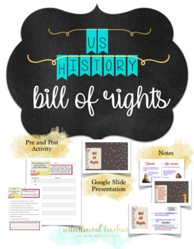 Bill of Rights Lesson Plan Notes & Activities