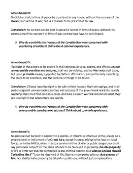 Bill of Rights Limited Government Activity