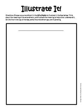 Bill of Rights Match-Up Center Activity