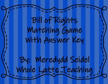 Bill of Rights Matching Game