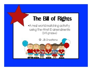 Bill of Rights Matching game (3rd-5th grade)