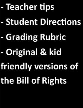 Bill of Rights Mimed Skits with Rubric