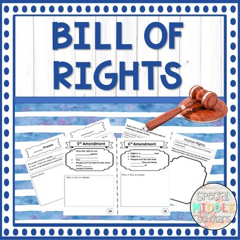 Bill of Rights Mini-Book and PowerPoint Presentation