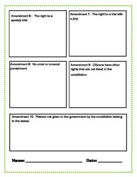 Bill of Rights Picture Story